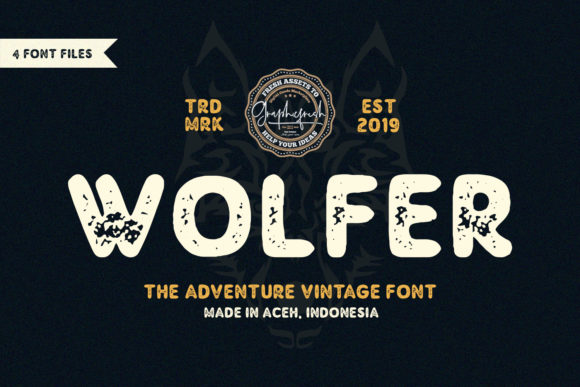 Print on Demand: Wolfer Display Font By Sameeh Media - Image 1