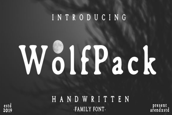 Print on Demand: Wolfpack Display Font By Arendxstudio