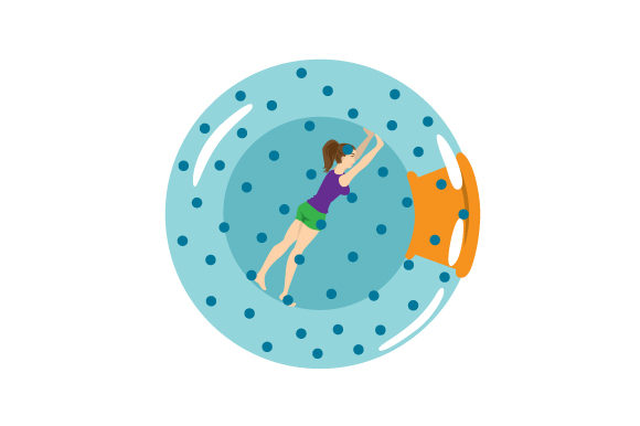 Download Free Woman In Zorbing Ball Svg Cut File By Creative Fabrica Crafts for Cricut Explore, Silhouette and other cutting machines.