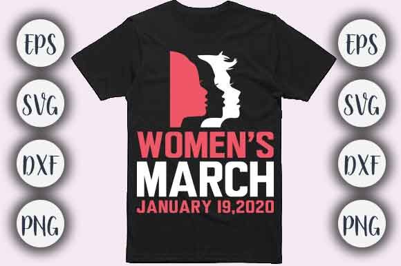 Print on Demand: Women's March T-shirt Design Graphic Print Templates By CreativeArt