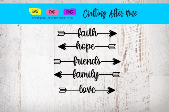 Print on Demand: Word Arrow Bundle Graphic Crafts By Crafting After Nine