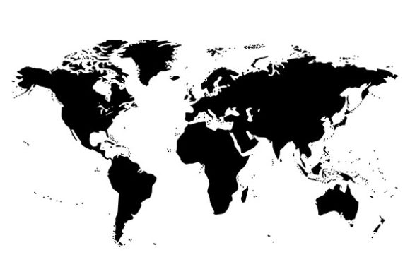 Print on Demand: World Map Silhouette Graphic Illustrations By denestudios - Image 2