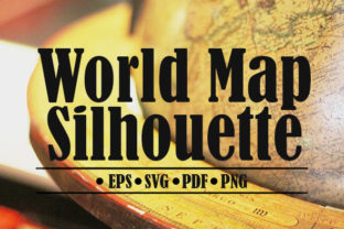 World Map Silhouette Graphic By denestudios
