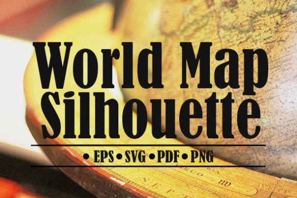 Print on Demand: World Map Silhouette Graphic Illustrations By denestudios - Image 1
