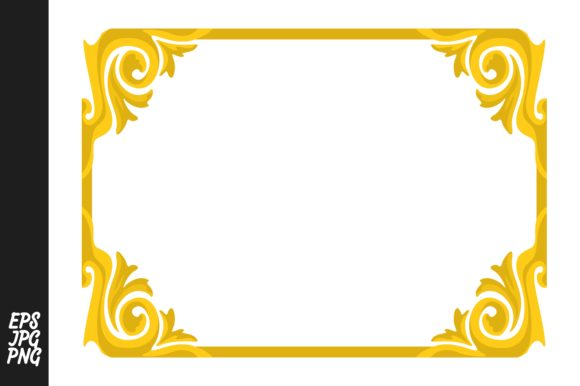 Download Free Yellow Ornament Border Graphic By Arief Sapta Adjie Creative for Cricut Explore, Silhouette and other cutting machines.