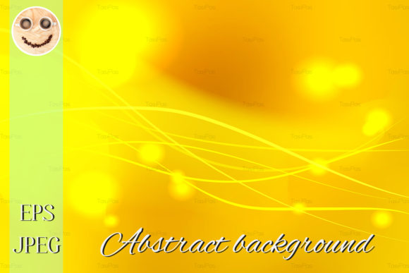 Print on Demand: Yellow Shades Abstract Vector Background Graphic Backgrounds By TasiPas