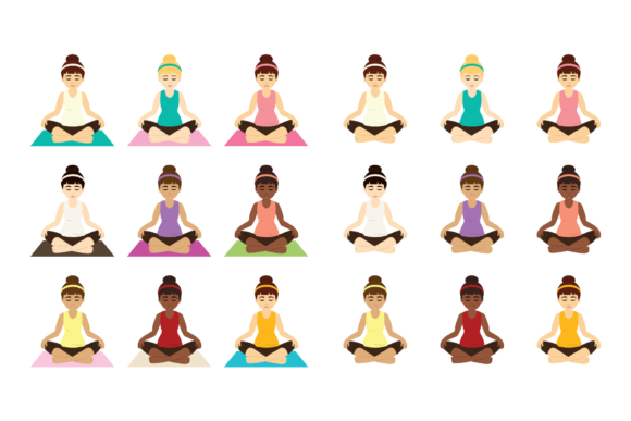 Print on Demand: Yoga Girls Clip Art Graphic Objects By Running With Foxes - Image 4