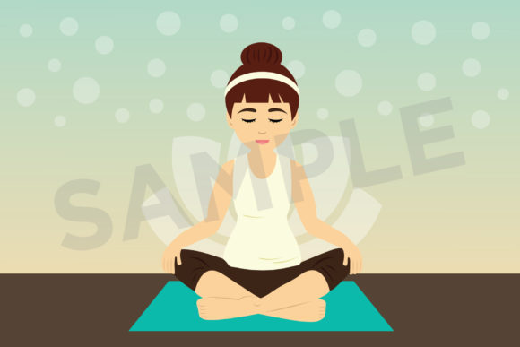 Yoga Girls Clip Art Graphic Preview