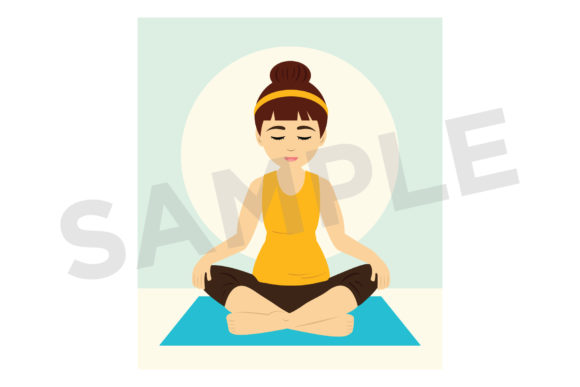 Print on Demand: Yoga Girls Clip Art Graphic Objects By Running With Foxes - Image 6