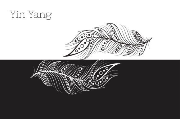 Zenart Boho Feathers Vector Set Graphic By Tatyana_Zenartist Image 3