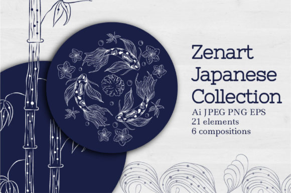 Zenart Japanese Collection Graphic Illustrations By Tatyana_Zenartist