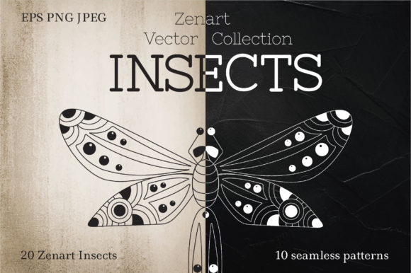 Zenart Vector Insects Collection Graphic Illustrations By Tatyana_Zenartist