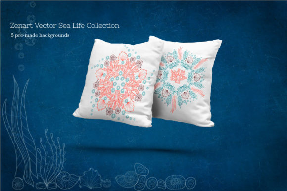 Zenart Vector Sea Life Collection Graphic By Tatyana_Zenartist Image 11