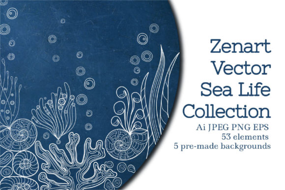 Zenart Vector Sea Life Collection Graphic By Tatyana_Zenartist Image 1