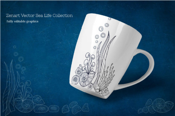 Zenart Vector Sea Life Collection Graphic By Tatyana_Zenartist Image 9