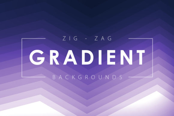 Print on Demand: Zig Zag Gradient Backgrounds Graphic Backgrounds By ArtistMef