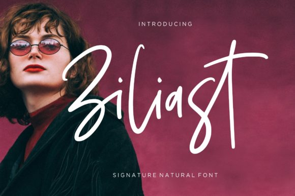Print on Demand: Ziliast Script & Handwritten Font By CreatypeStudio