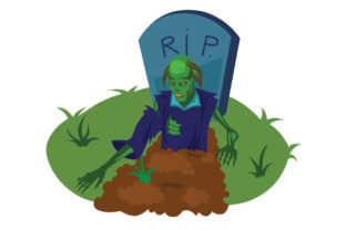 Zombie Coming out of Grave Halloween Craft Cut File By Creative Fabrica Crafts