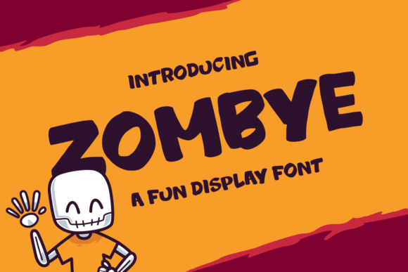 Print on Demand: Zombye Display Font By tkztype - Image 1
