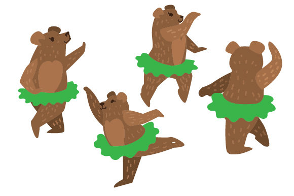 Download Free Bears In Tutus Set Svg Cut File By Creative Fabrica Crafts for Cricut Explore, Silhouette and other cutting machines.