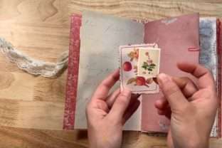 Inspiration: Creamy and Floral Junk Journal