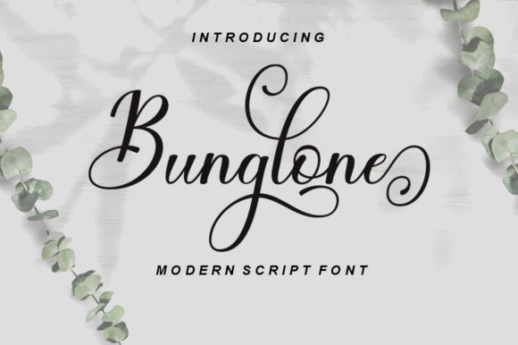 Print on Demand: Bunglone Script & Handwritten Font By letterfreshstudio