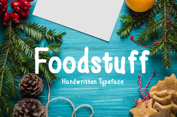 Print on Demand: Foodstuff Script & Handwritten Font By Imposing Fonts - Image 1