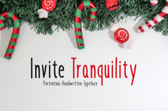 Print on Demand: Invite Tranquility Display Font By Imposing Fonts