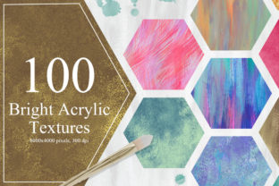100 Bright Acrylic Textures Graphic By NassyArt