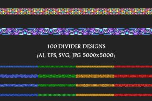 100 Stone Mosaic Dividers Graphic By davidzydd
