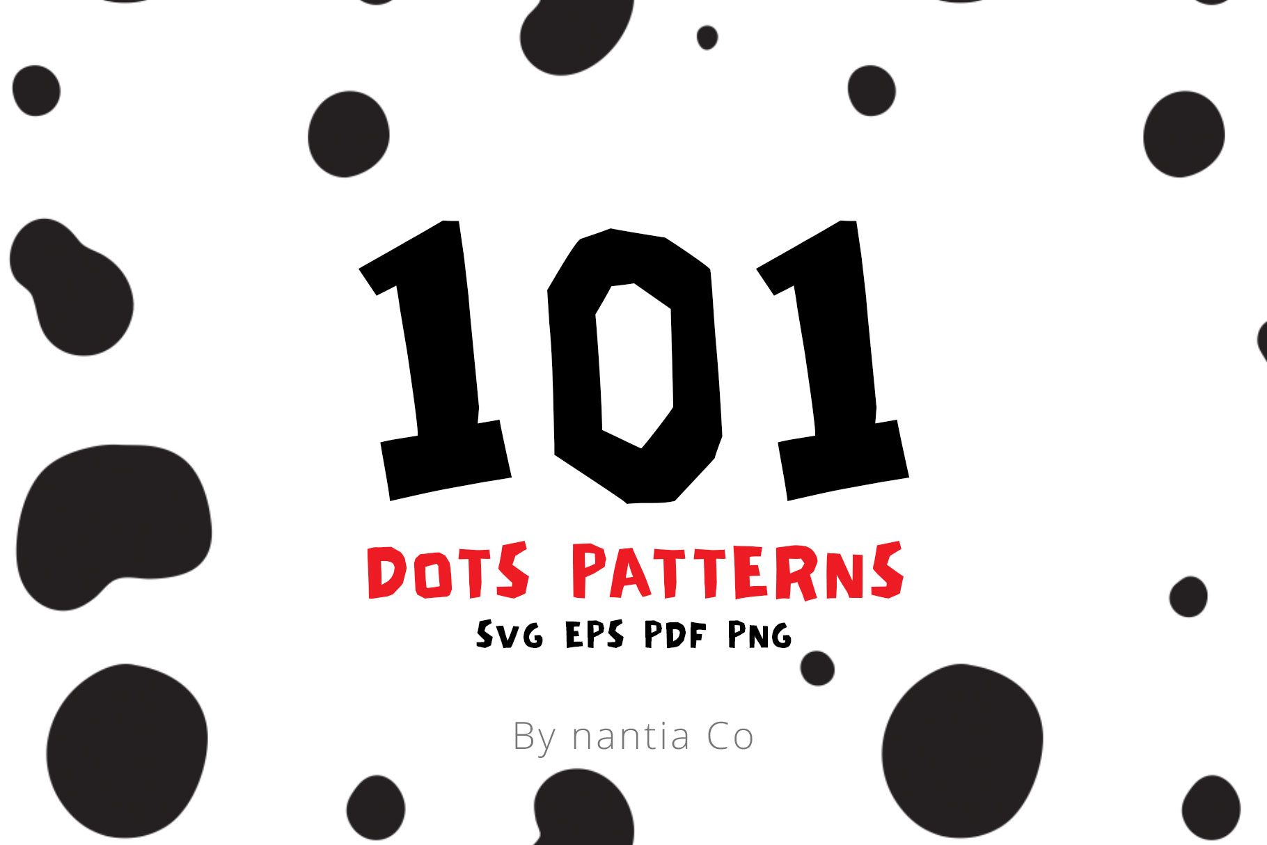 Download Free 101 Dots Seamless Patterns Vector Graphic By Nantia Creative for Cricut Explore, Silhouette and other cutting machines.