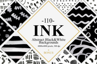 110 Abstract Ink Backgrounds Graphic By NassyArt