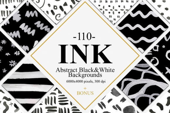110 Abstract Ink Backgrounds Grafik Hintegründe von NassyArt