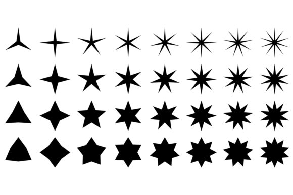 132x2 Star Shapes Graphic Objects By davidzydd - Image 2