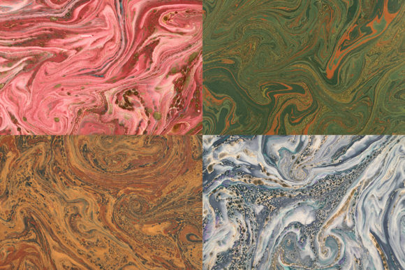 15 Authentic Marbled Paper Textures Graphic Backgrounds By BlackLabel - Image 2