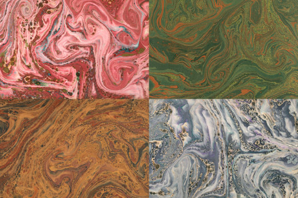 15 Authentic Marbled Paper Textures Graphic Backgrounds By BlackLabel - Image 5