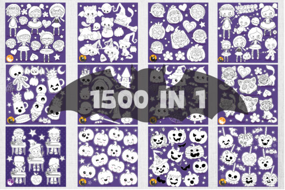 Print on Demand: 1500 Graphic Mega Halloween Bundle Graphic Illustrations By Prettygrafik - Image 5