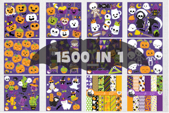 Print on Demand: 1500 Graphic Mega Halloween Bundle Graphic Illustrations By Prettygrafik - Image 8