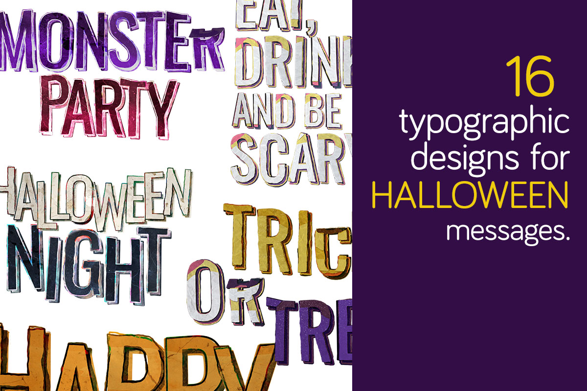 Download Free 16 Typographic Design For Halloween Graphic By Milaski for Cricut Explore, Silhouette and other cutting machines.