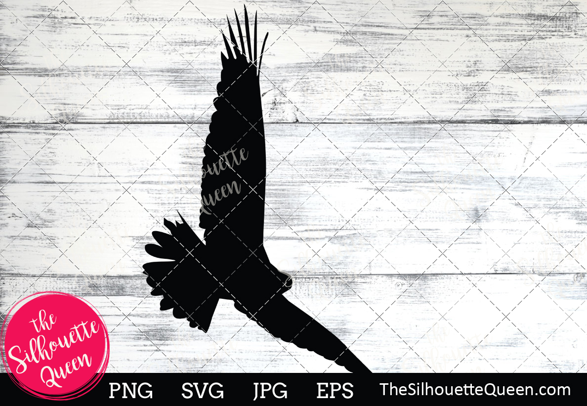Download Free Bald Eagle Silhouette Graphic By Thesilhouettequeenshop for Cricut Explore, Silhouette and other cutting machines.