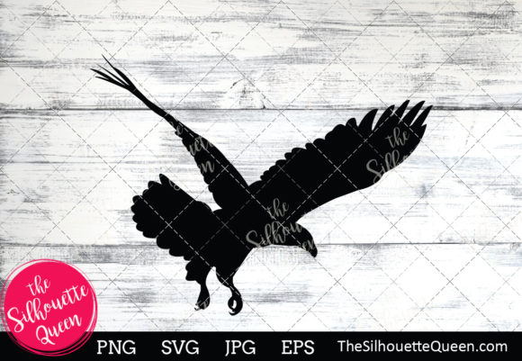 Bald Eagle Silhouette Graphic By Thesilhouettequeenshop