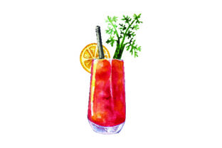Bloody Mary - Watercolor Style Food & Drinks Craft Cut File By Creative Fabrica Crafts