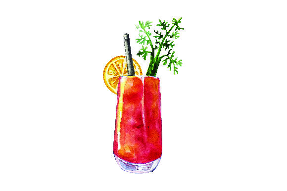 Bloody Mary - Watercolor Style Craft Design By Creative Fabrica Crafts