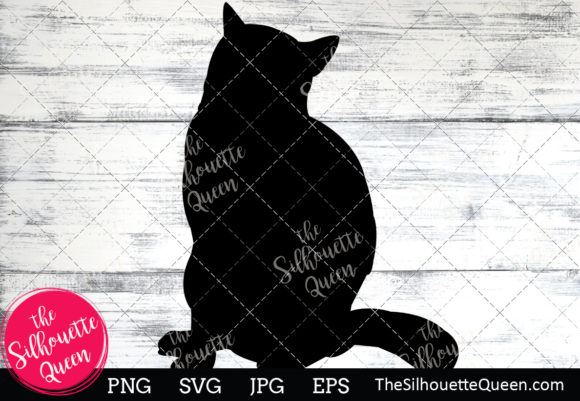 Download Free British Shorthair Cat Silhouette Graphic By for Cricut Explore, Silhouette and other cutting machines.