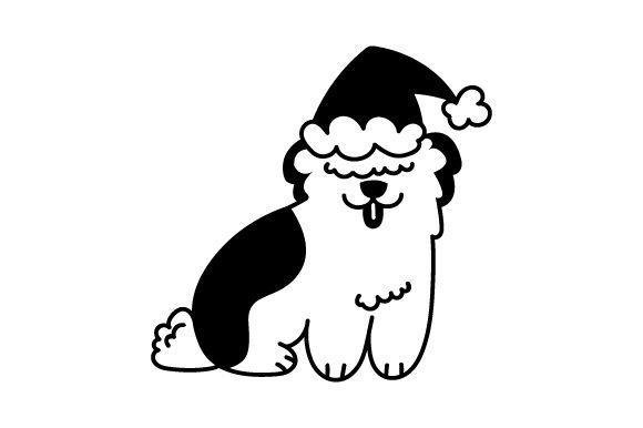 Download Free Christmas Fluffy Dog Svg Cut File By Creative Fabrica Crafts Creative Fabrica for Cricut Explore, Silhouette and other cutting machines.