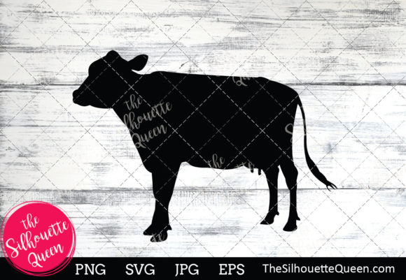 Download Free Cow Silhouette Graphic By Thesilhouettequeenshop Creative Fabrica for Cricut Explore, Silhouette and other cutting machines.
