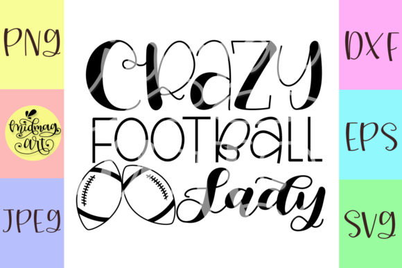 Crazy Football Lady Graphic By MidmagArt Image 2