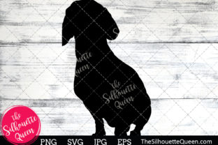 Download Free Dachshund Dog Silhouette Graphic By Thesilhouettequeenshop for Cricut Explore, Silhouette and other cutting machines.