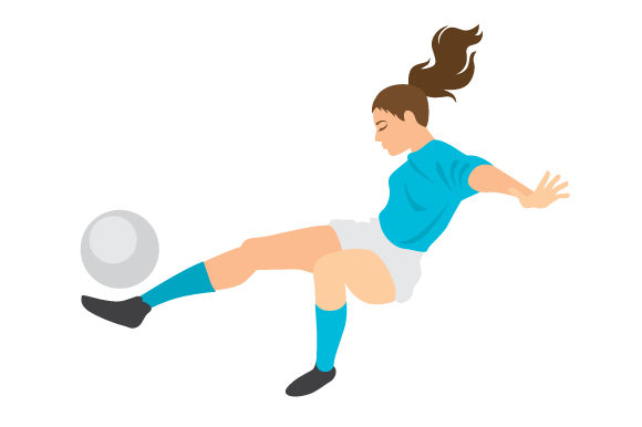 Female Soccer Bicycle Kick Sports Craft Cut File By Creative Fabrica Crafts