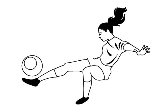 Download Free Female Soccer Bicycle Kick Svg Cut File By Creative Fabrica for Cricut Explore, Silhouette and other cutting machines.